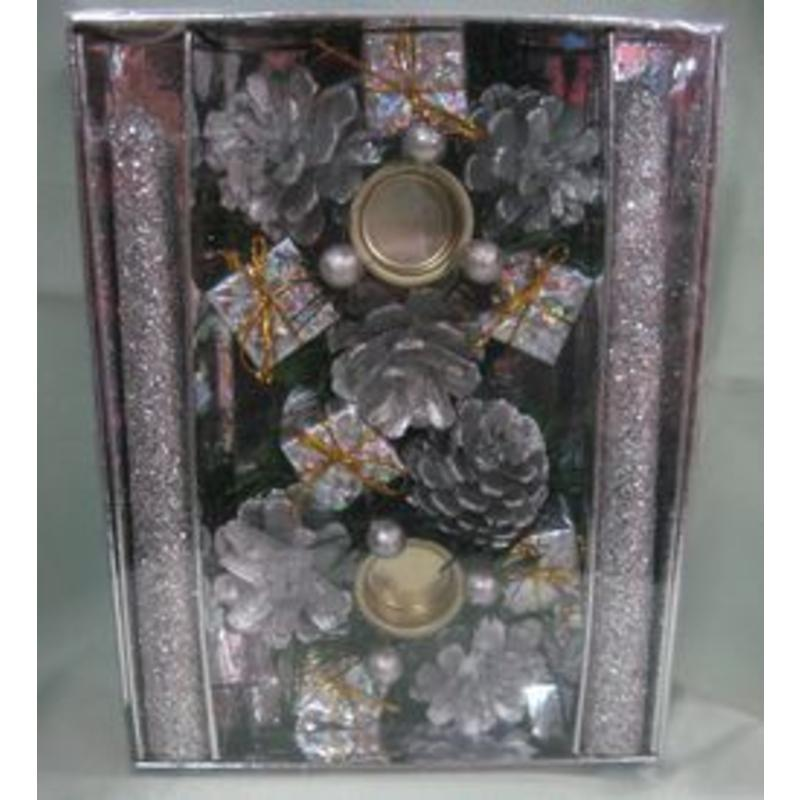 Silver Candle Holder Set