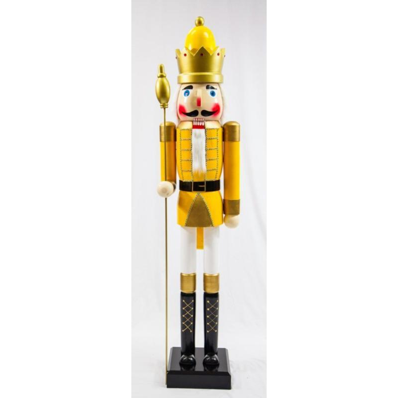 Yellow Guard Nutcracker 180cm